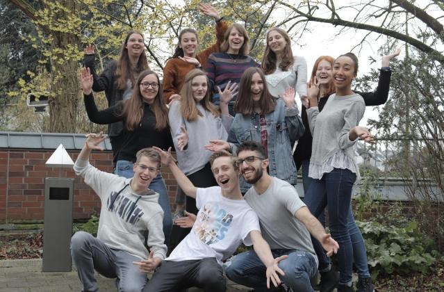 die Jugendlichen vom News4U-Jahrgang 2018